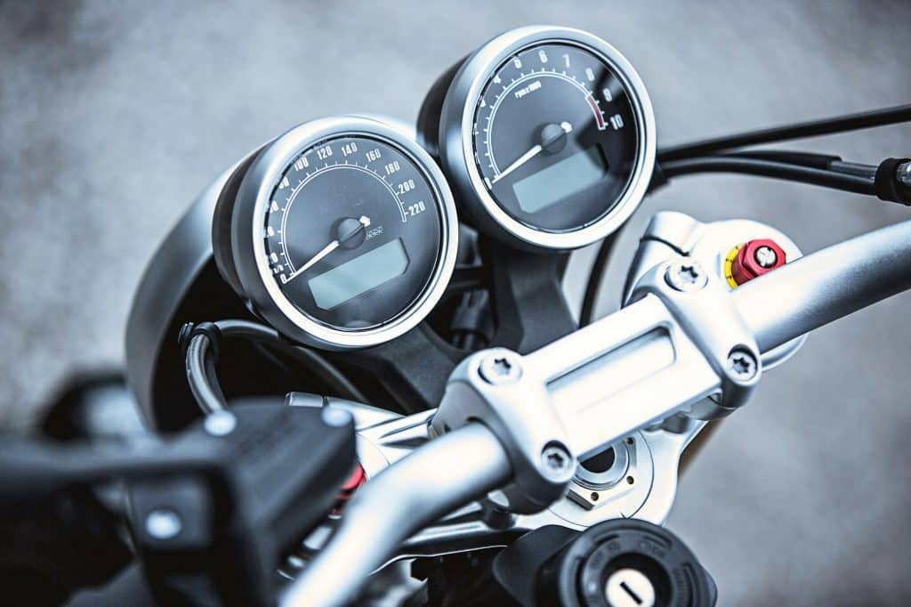 Motorcycle luxury items close-up: Motorcycle parts